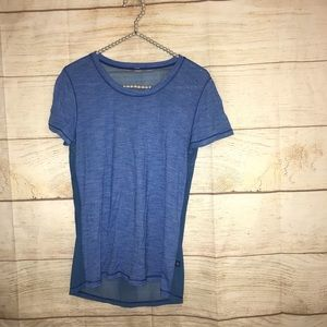 Lululemon size small blue mesh t shirt